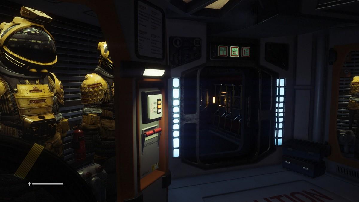 Aberracja chromatyczna w Alien: Isolation - wyłączona.