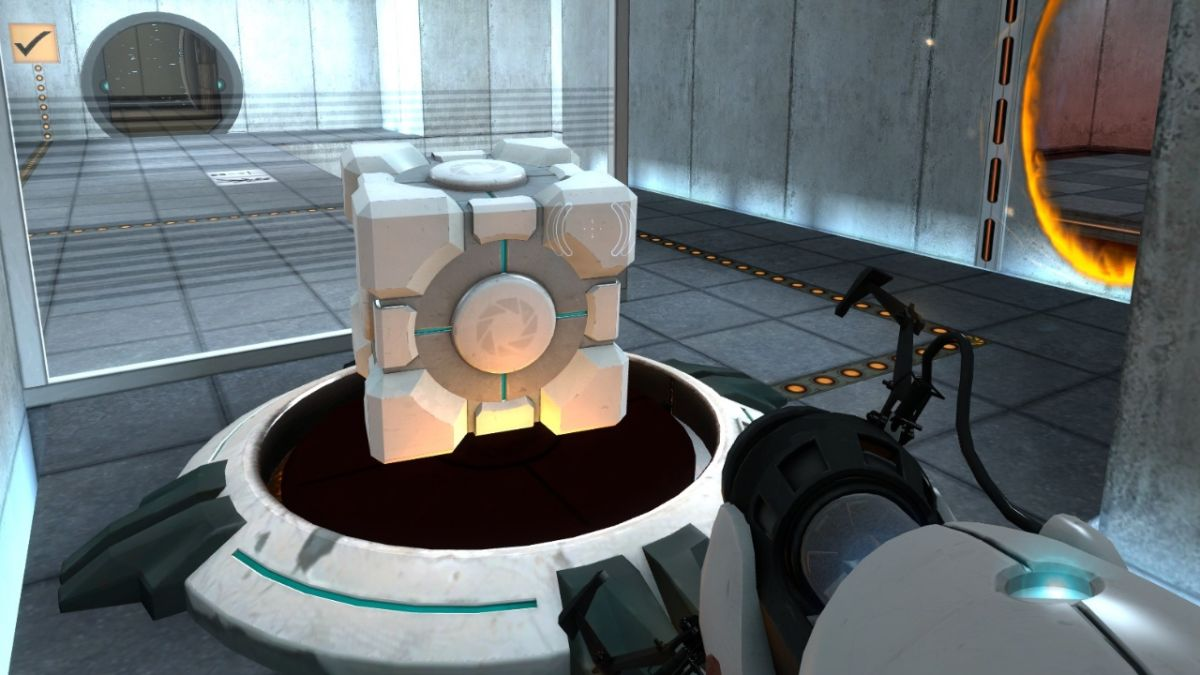 Companion Cube z gry Portal