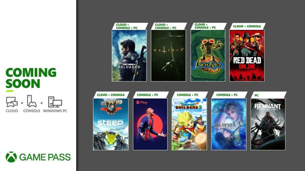 Grafika prezentująca gry, które pojawią się w maju w Xbox Game Pass