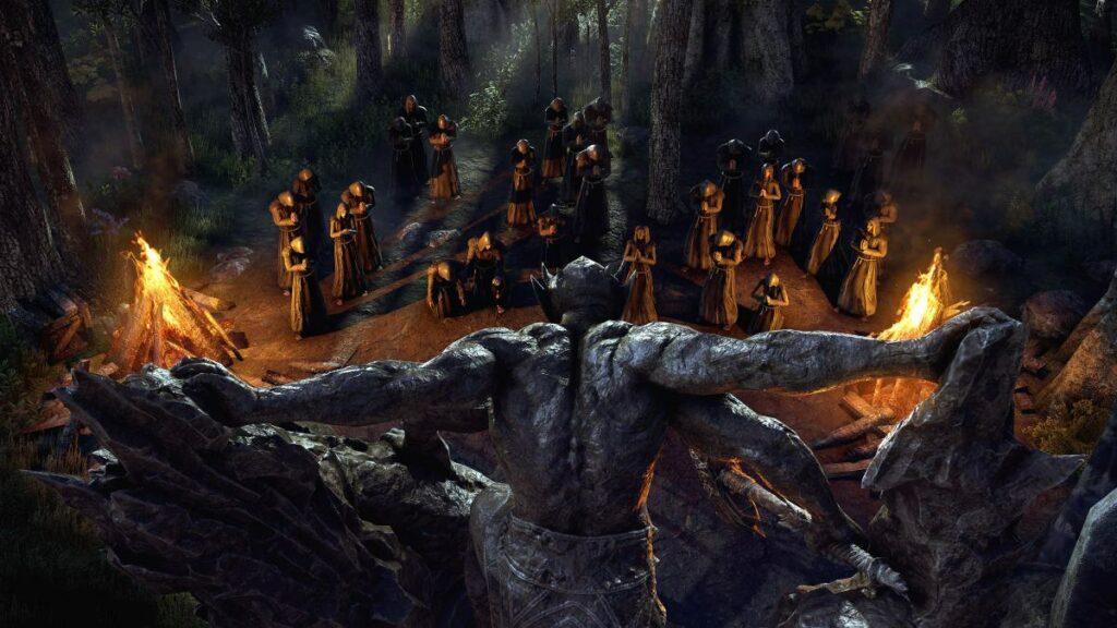 Screen z przerywnika z The Elder Scrolls Online: Blackwood
