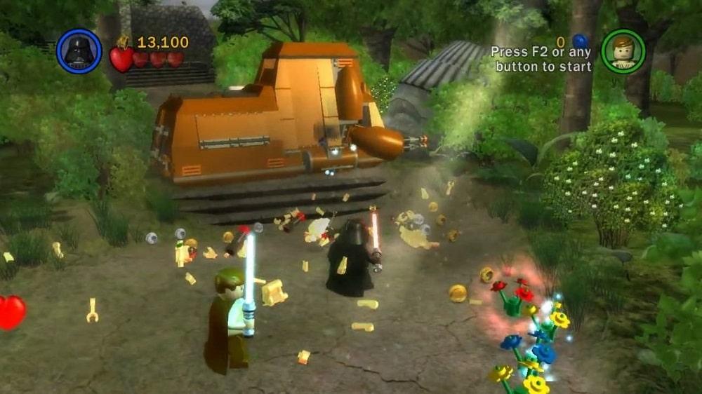 Etap na planecie Naboo z gry Lego Star Wars: The Video Game
