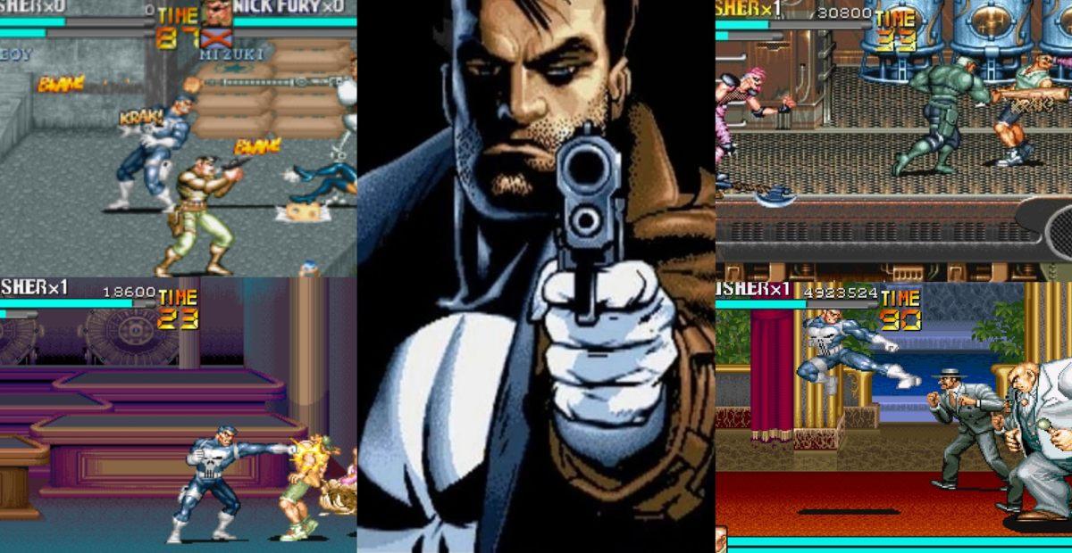 Punisher z prezentacją etapów gry