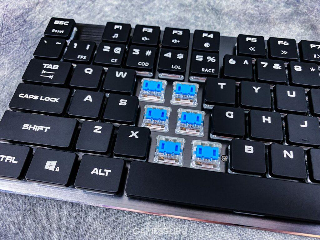 Test Genesis Thor 420 RGB - przełączniki mechaniczne