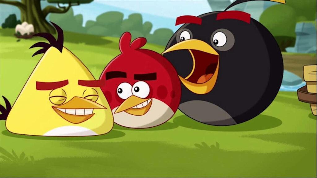 Kadr z kreskówki Angry Birds