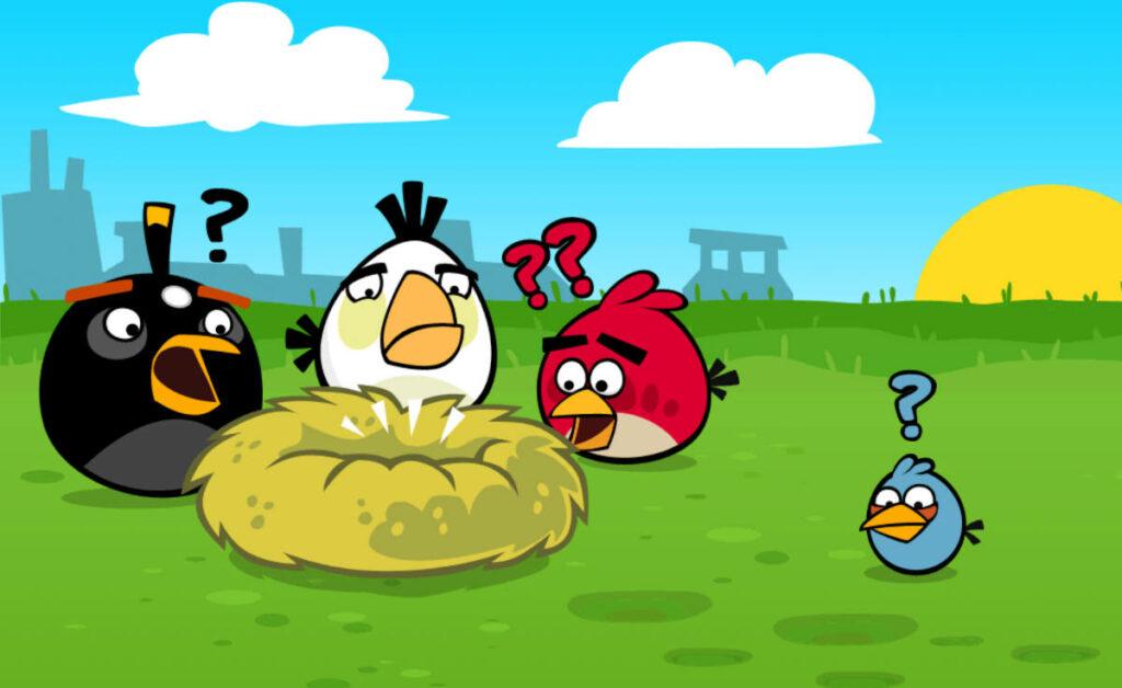 Fragment Cutscenki z gry Angry Birds Classic
