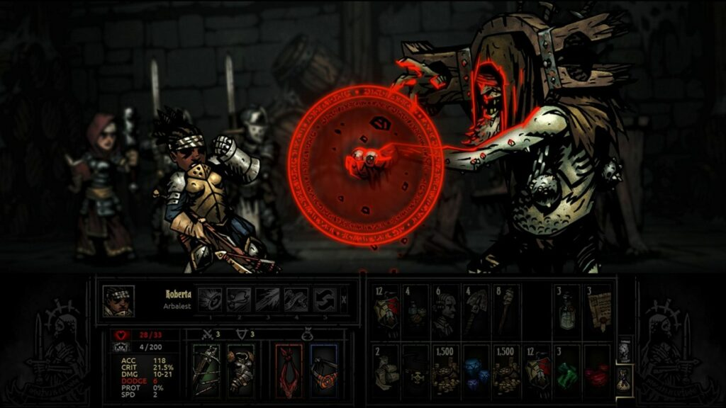 Screen z gry Darkest Dungeon
