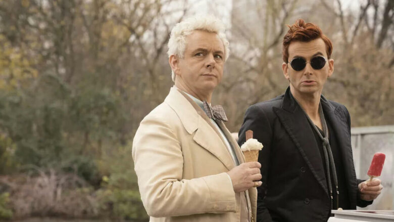Azirafal i Crowley, bohaterowie serialu Dobry Omen
