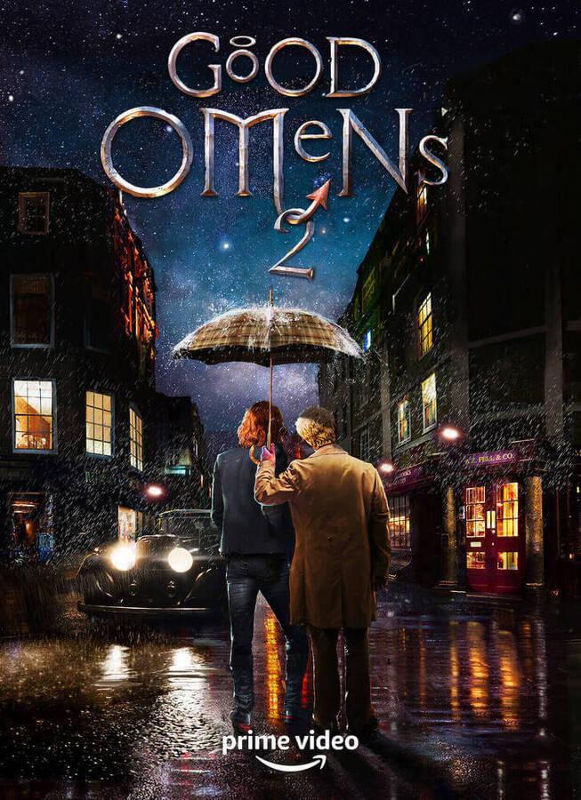 Azirafal i Crowley na plakacie drugiego sezonu Dobrego Omenu