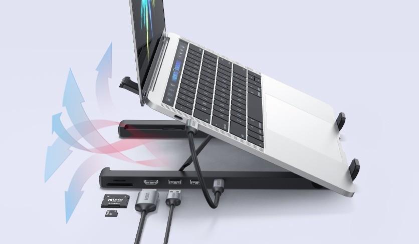 UGREEN X-Kit Stand - stacja dokująca z laptopem i złącza
