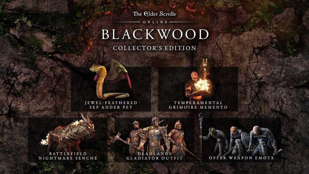 Zawartość Edycji Kolekcjonerskiej The Elder Scrolls Online: Blackwood