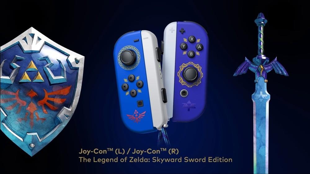 Kontrolery Nintendo Switch z limitowanej edycji Skyward Sword