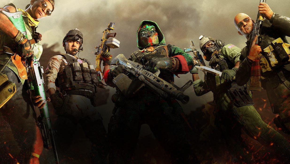 Postacie z gry Call of Duty Warzone na stojąco