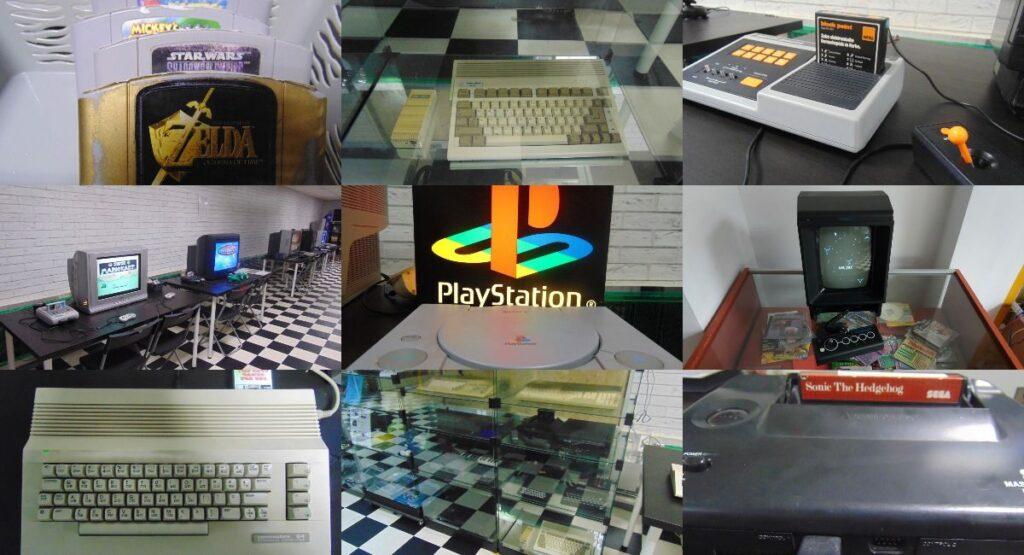 eksponaty, konsole, komputery