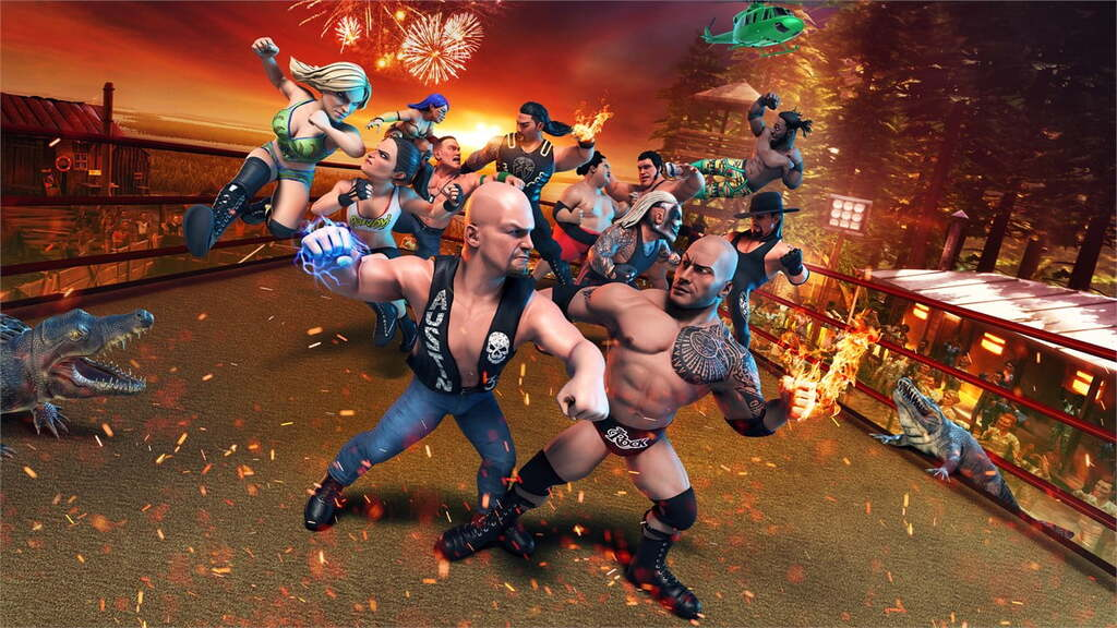Rozgrywka w WWE 2K Battlegrounds