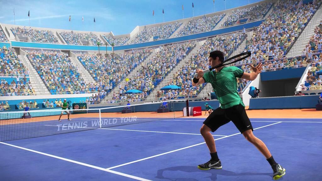 Rozgrywka w grze Tennis World Tour 2