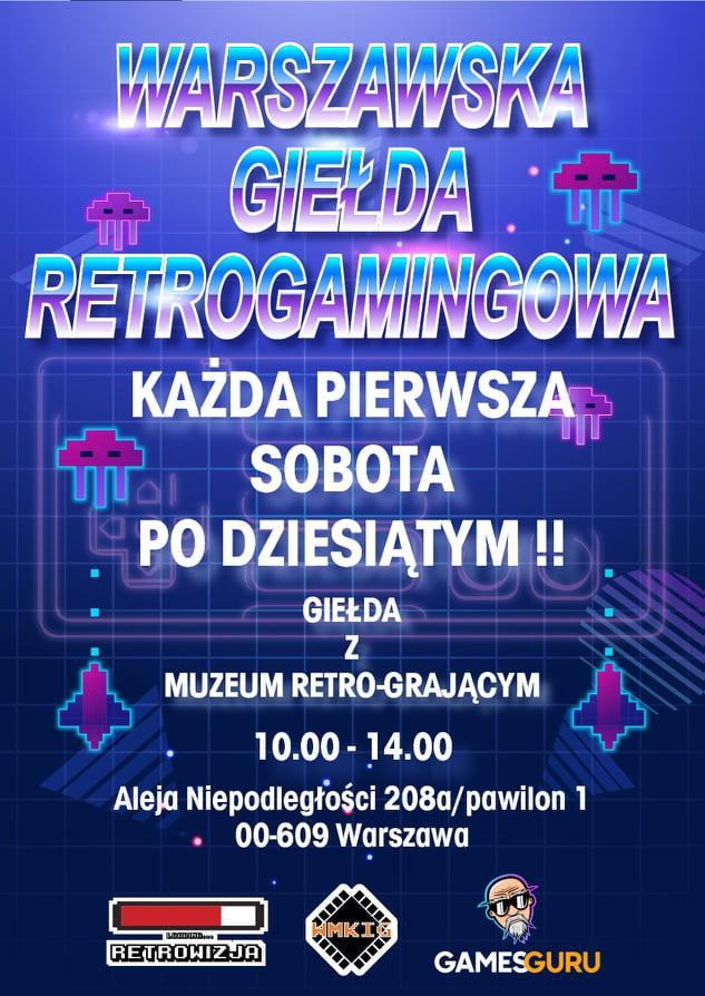 Dwudniowa edycja Warszawskiej Giełdy Retrogamingowej już 11-12 września!