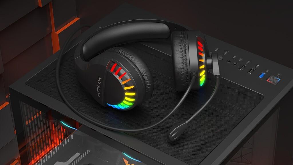 Wygląd słuchawek KRUX Fizz RGB