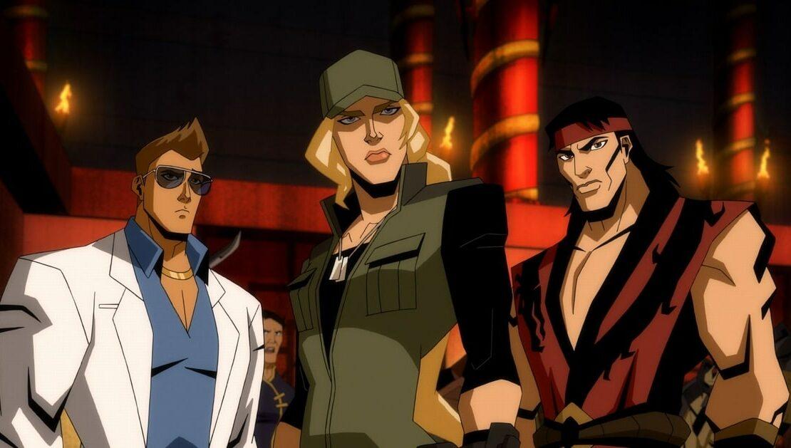 Johnny Cage, Sonya Blade i Liu Kang w animowanym Mortal Kombat