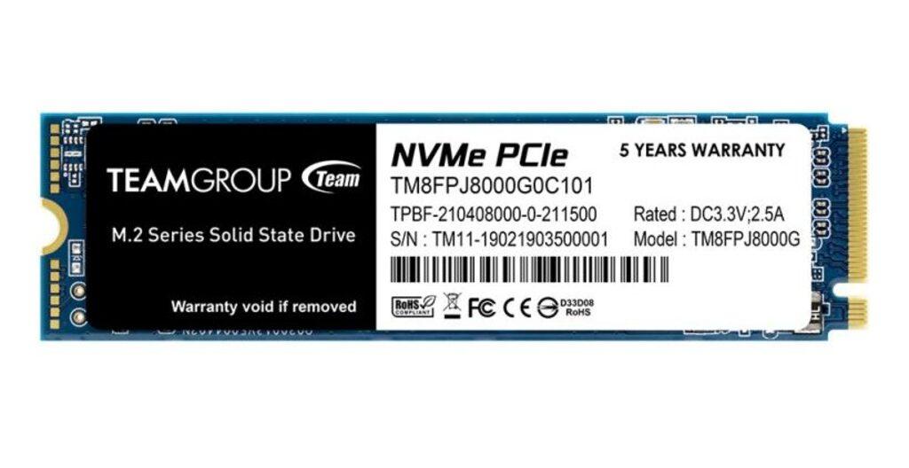 Wygląd dysku TeamGroup SSD MP34Q M.2 PCIe