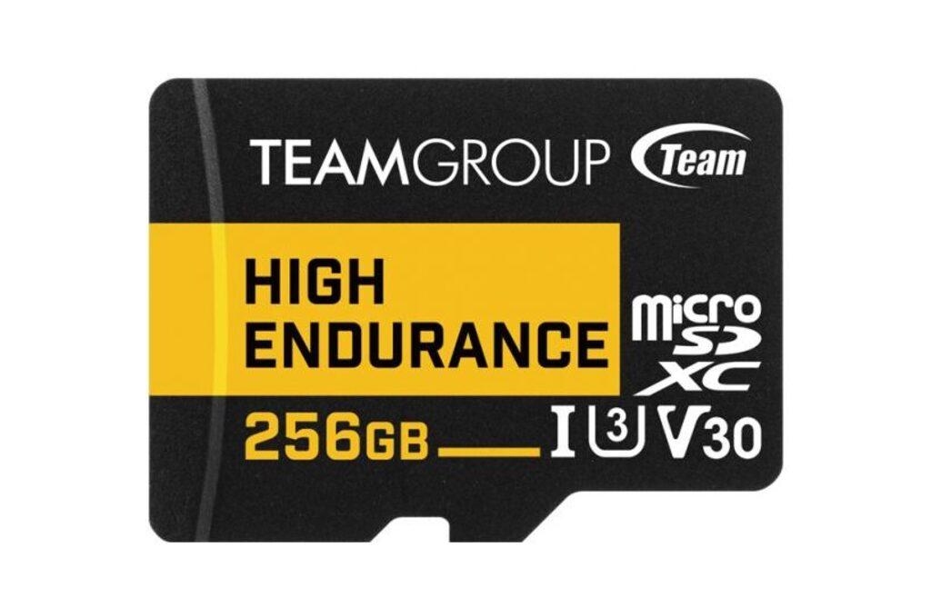 Wygląd karty pamięci TeamGroup High Endurance