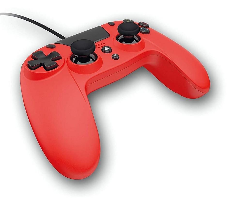 Gamepad Giotech VX4 w czerwonej wersji kolorystycznej