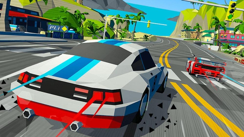Kadr z gry Hotshot Racing tworzonej z Sumo Digital