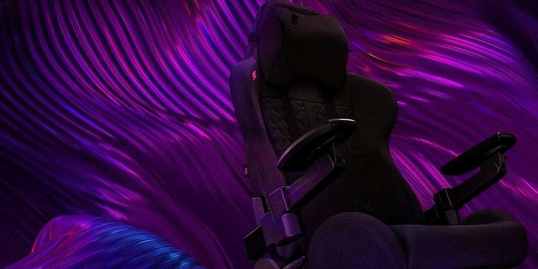 Fotel Yumisu 2050X na abstrakcyjnym tle