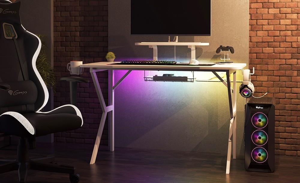 Recenzja Genesis Holm 320 RGB - stanowisko komputerowe