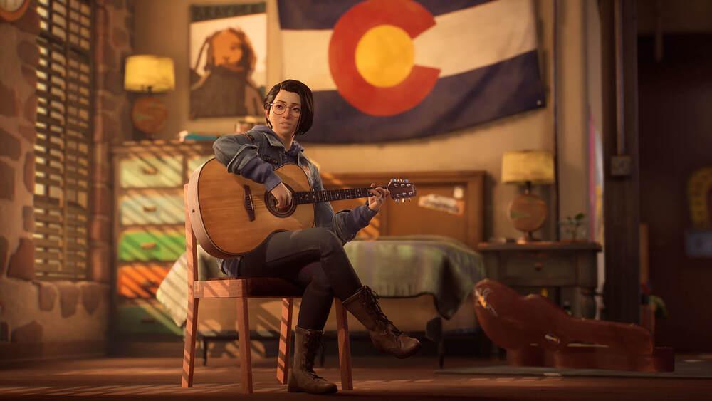 Alex z gitarą z Life is Strange: True Colors