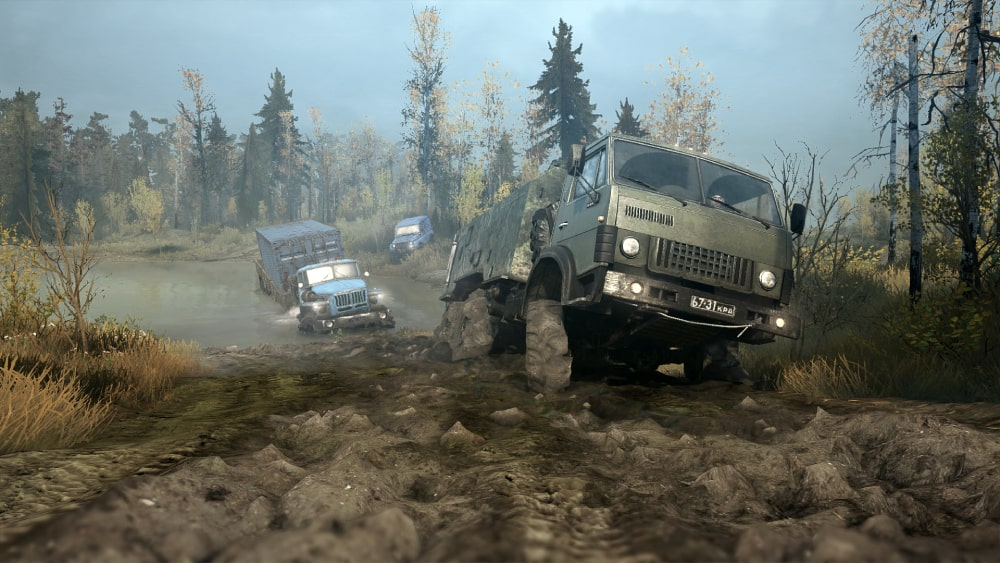 Kadr z gry MudRunner wydanej przez Saber Interactive, będącego częścią EMbracer Group