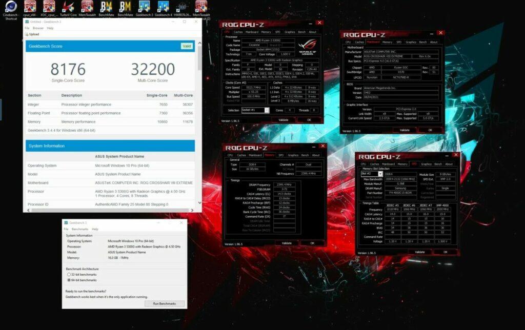 Rezultaty OC Ryzen 3 5300G