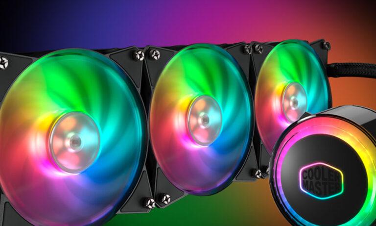 Podświetlenie RGB w chłodzeniu Cooler Master ML360 RGB