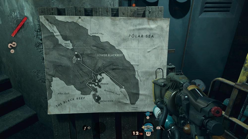 Mapa świata Deathloop