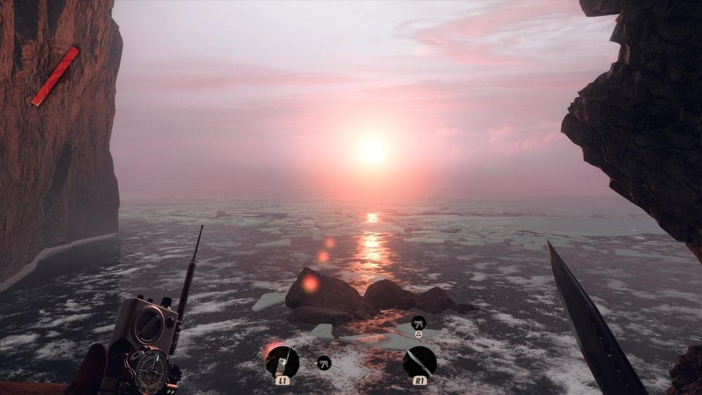 Wschód słońca nad morzem arktycznym