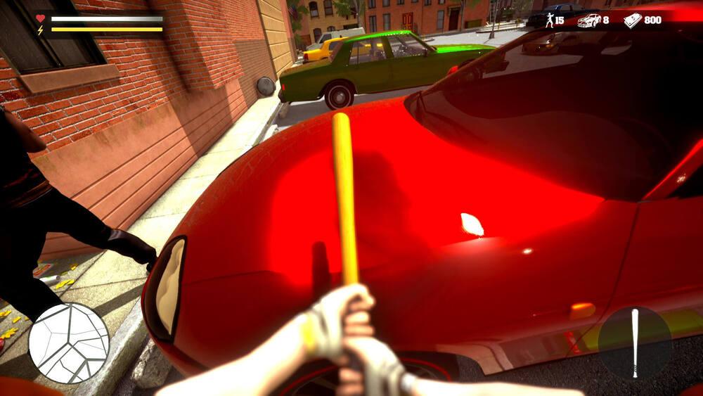 Demolowanie samochodów w Road Gangs Simulator