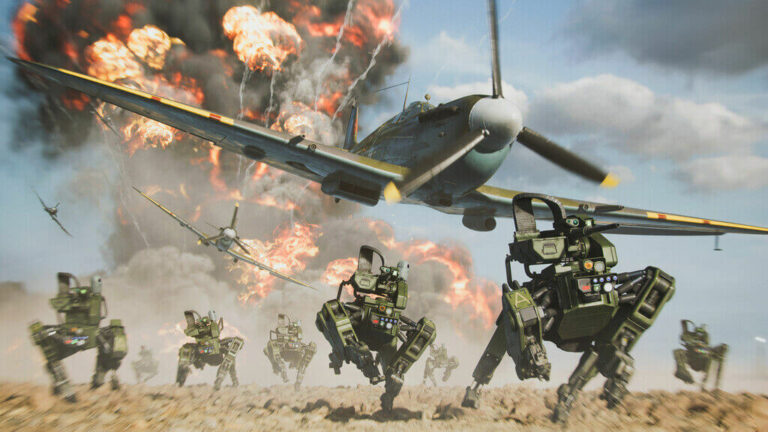 Biegnące roboty w Battlefield 2042
