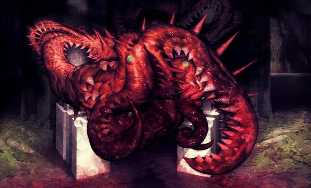 Tytułowy potwór z gry Carrion