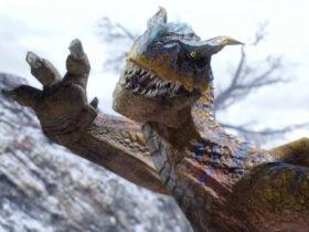 Potwór szykujący się do ataku wygląda jakby machał na powitanie