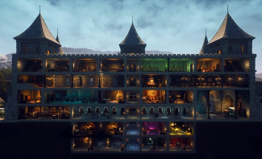 Wnętrze zamku w Castle Manager