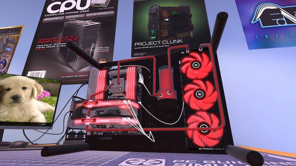 Komputer złożony w grze PC Building Simulator